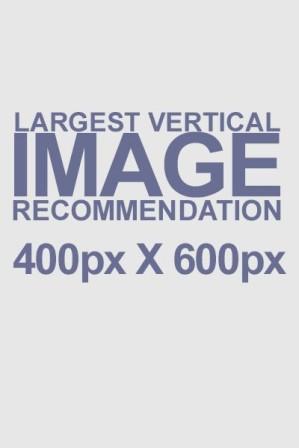 Largest Vertical Image Recommendation 400px x 600px